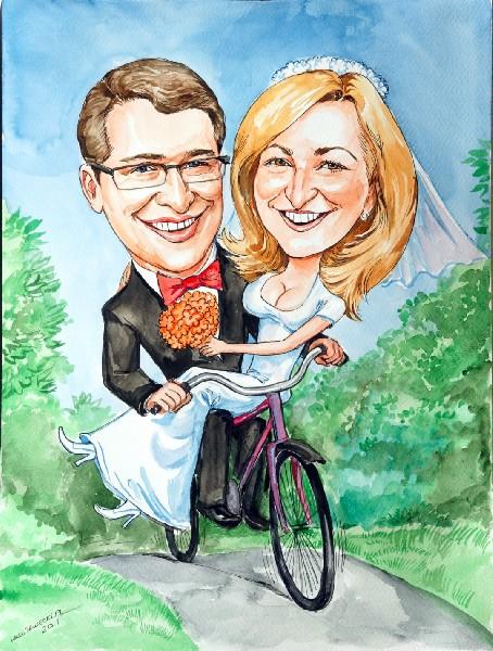 Karykatury Lub Portrety Na Prezent Urodzinowy ślubny 4